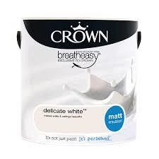 Crown Delicate White 2.5L Matt Emulsion - Image