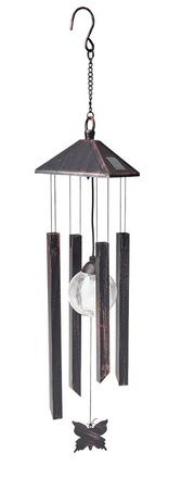 Gardman Solar Colour Changing Wind Chime Butterfly - Image